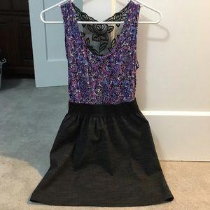 dELiA*s Floral Print Lace Back Dress
